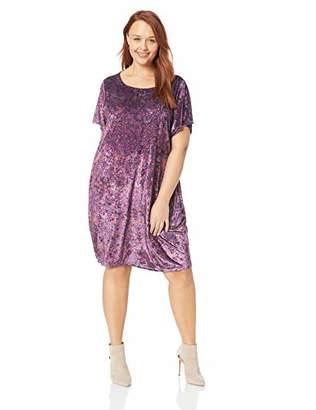 Lucky Brand Women's Plus Size Velvet TEE Dress