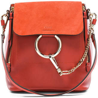 Chloé Small Faye Calfskin & Suede Backpack