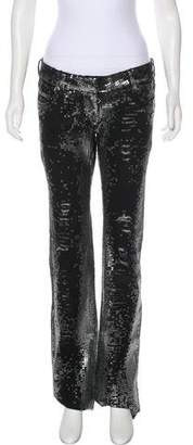 Balmain Low-Rise Sequined Jeans