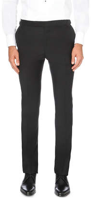 Gieves & Hawkes Tapered wool and mohair-blend trousers