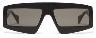 Gucci D Frame Acetate Sunglasses - Mens - Black