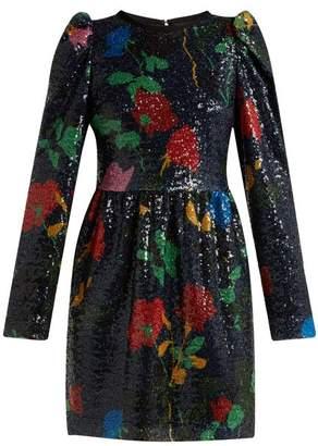MSGM Sequin Embellished Mini Dress - Womens - Black Multi