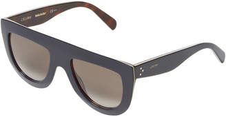 Celine Acetate Tinted Saddle Nose Bridge Wayfarer Frame