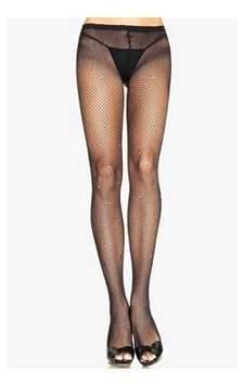 Leg Avenue Women's Fishnet Pantyhose with Rhinestone Detail, Black, One Size