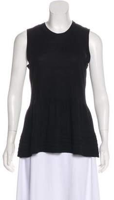 Burberry Wool-Blend Short Sleeve Top