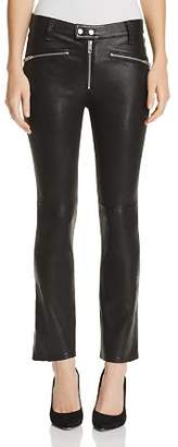 Rag & Bone Braxton Cropped Flared Leather Pants