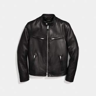 Coach Leather Racer Jacket