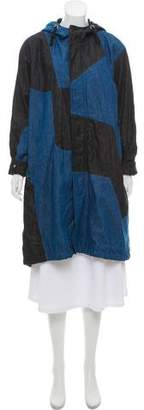 Tess Giberson Colorblock Chambray Coat