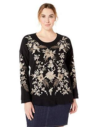 Johnny Was JWLA By Women's Size Plus Embroidered Thermal