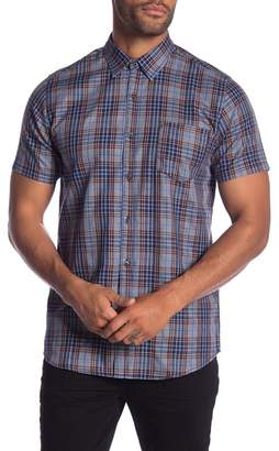 9e45b384bf Micros Trench Run Plaid Short Sleeve Regular Fit Shirt