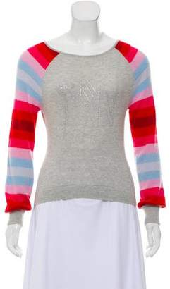 Matthew Williamson Striped-Accented Wool-Angora Sweater