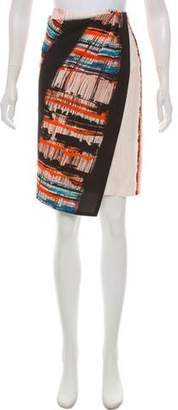 Cédric Charlier Printed Knee-Length Skirt
