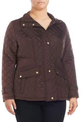 Weatherproof Plus Diamond-Quilt Coat