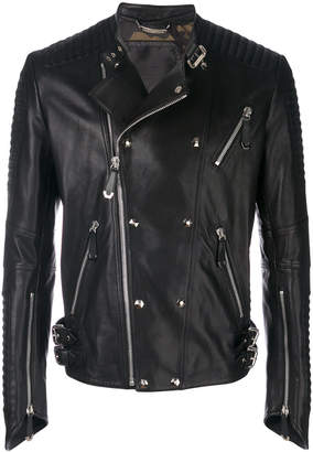 Philipp Plein Antosha leather biker jacket