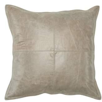 Piké Villa Home Collection Leather Accent Pillow