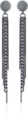 Sheryl Lowe Fringed Sterling Silver Diamond Earrings