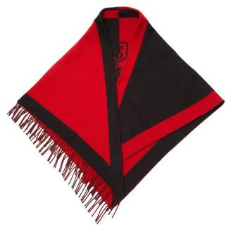 Burberry Logo Crest Wool Blend Bandana - Womens - Red