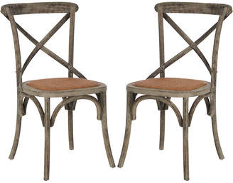 Safavieh Set Of 2 Franklin Farmhouse Chairs