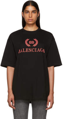 Balenciaga Black Oversized Classic BB T-Shirt