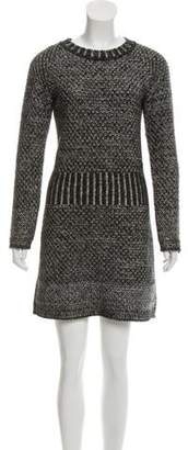 Chanel Silk & Cashmere-Blend Sweater Dress