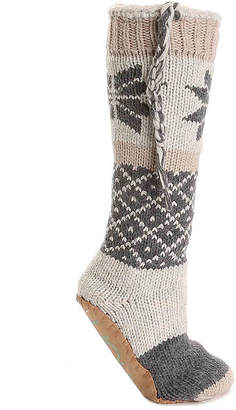 Lemon Aspen Snowflake Boot Slipper Socks - Women's