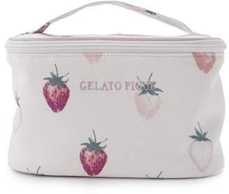 Gelato Pique (ジェラート ピケ) - gelato pique サテンストロベリーバニティーポーチ