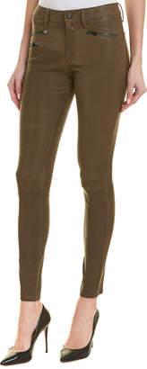 AG Jeans The Farrah Skinny Moto Dwi Leather High-Rise Skinny Leg