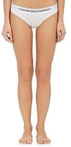 Calvin Klein Women's Logo Cotton-Blend Bikini Briefs - White