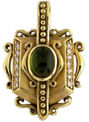 Judith Ripka 18K Tourmaline & Diamond Pendant
