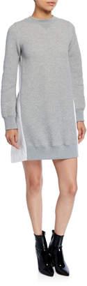 Sacai Sweater Dress w/ Poplin Back