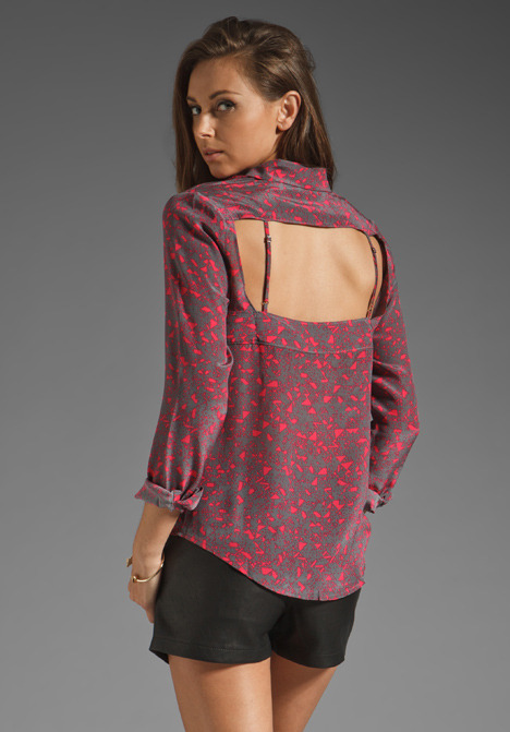 Funktional Abstract Open Back Top