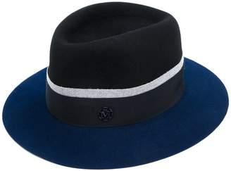 at Farfetch Maison Michel logo plaque panama hat