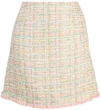 Edward Achour Paris tweed A-line skirt