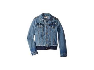 AG Adriano Goldschmied Kids Denim/Twill Jacket with Embroidery (Big Kids)