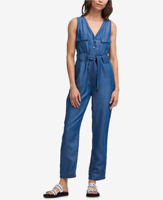 DKNY Belted Tencel Jumpsuit
