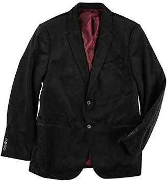 Calvin Klein Men's Two Button Printed Velvet Plaid Sportcoat