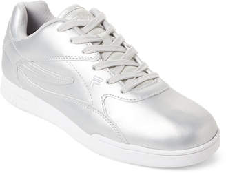 Fila Silver & White Amant Low-Top Sneakers