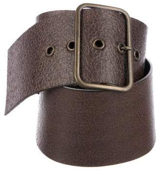 Hache Wide Leather Belt