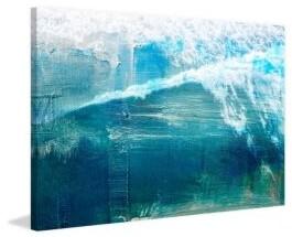 Parvez Taj White Splashing Surf Wrapped Canvas Print