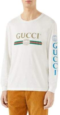 Gucci Long Sleeve Logo Tee
