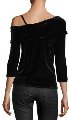 Waverly Grey Margerie Velvet One-Shoulder Top