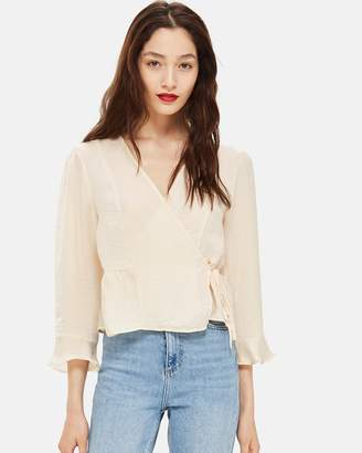 Topshop Frill Wrap Blouse