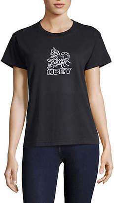 Obey Scorpion Rose Custom Box Tee