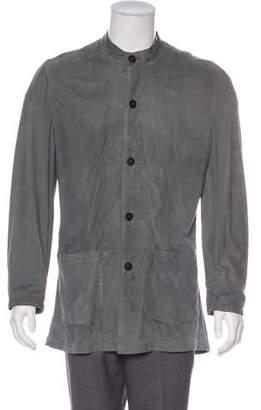 Giorgio Armani Suede Shirt Jacket