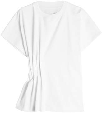 Maison Margiela Cotton T-Shirt with Gathered Side