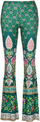 Namaste Black Coral printed trousers