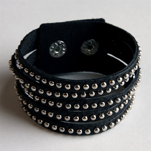 Ccc Studded Leather Cuff