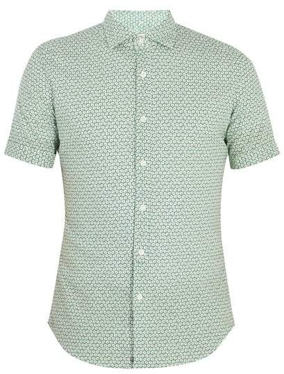 Eddy floral-print cotton-blend shirt
