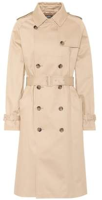 A.P.C. Greta cotton gabardine trench coat