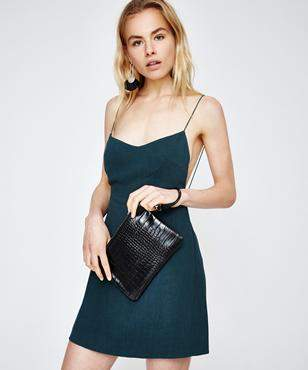 Alice In The Eve Erin Party Clutch Black